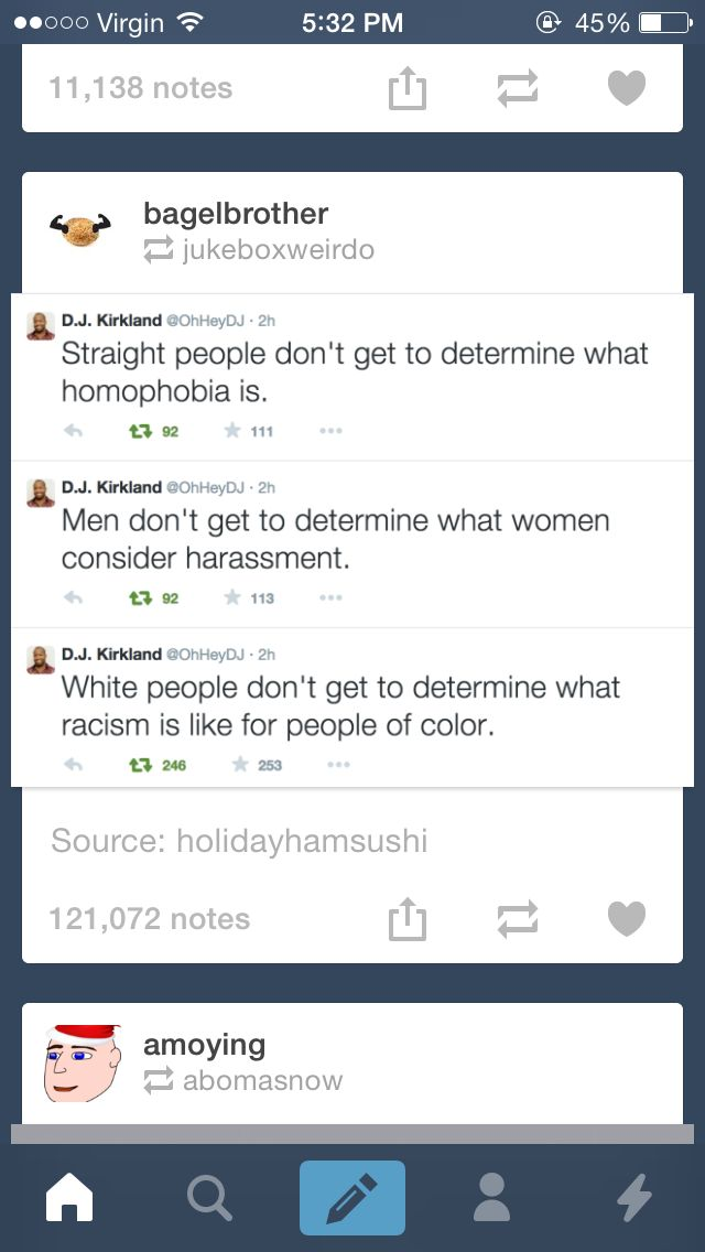 The first one is a little unfair, if someone is being homophobic I'm calling them out on it even if I'm straight