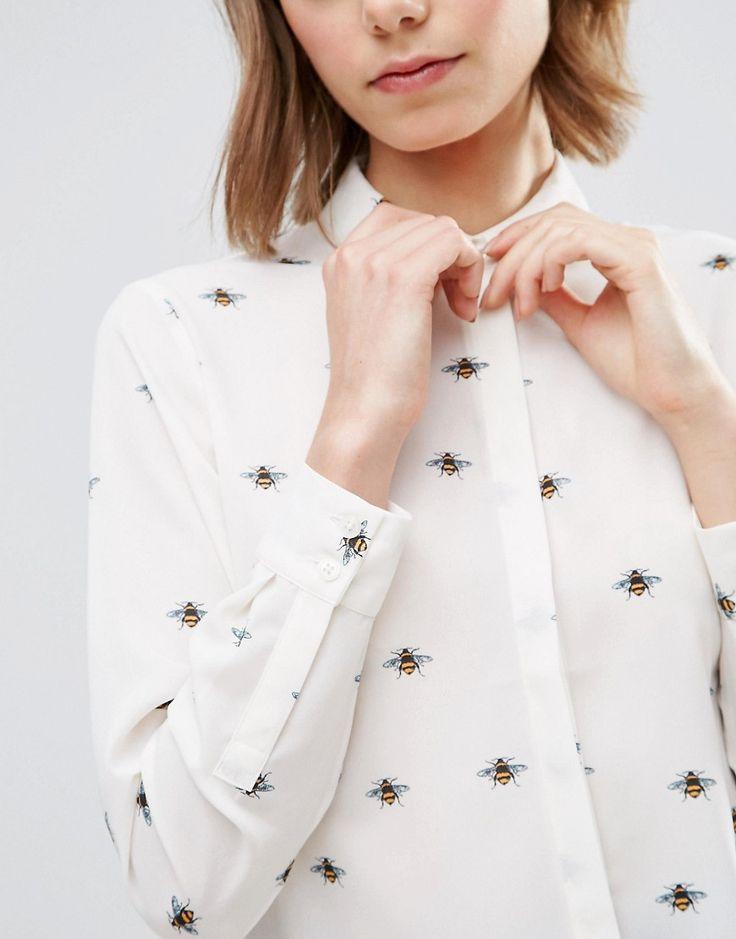Image 3 ofASOS Soft Shirt in Bee Print