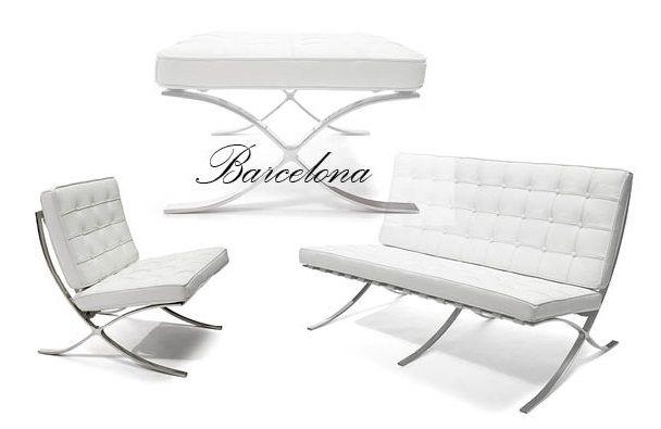 Barcelona serien - tillverkad i högsta kvalité av genomfärgat italienskt skinn och blankpolerat stål.  www.barstolar.nu