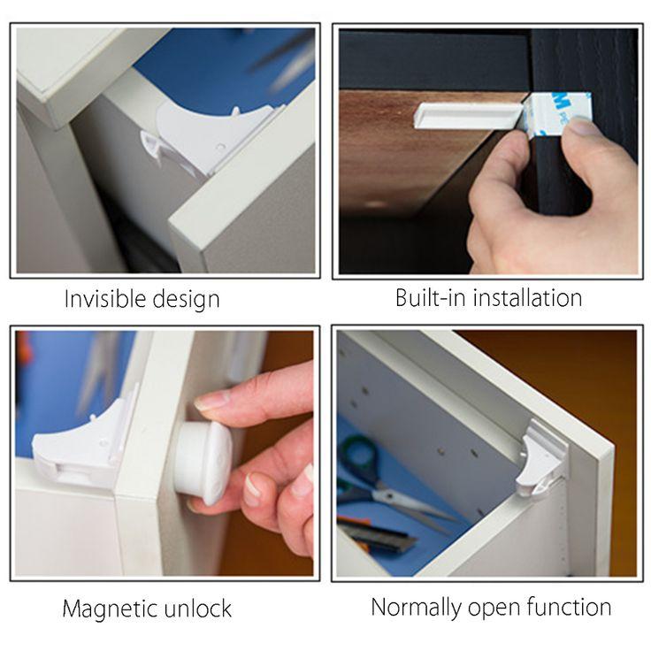 10Pcs/Set Child Safety Locks(4 Locks + 1 Key), Proofing