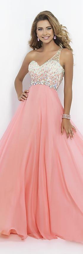 Embellished Chiffon Lilac Princess One-Shoulder Natural Prom Dress In Stock jijidresses12406hjrsr #pinkdress #promdress