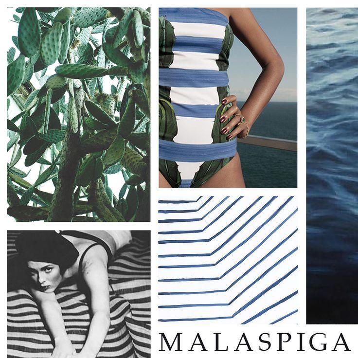 #cactus #malaspiga #stripes #blue #swimwear #chic #madeinitaly #summer #sea