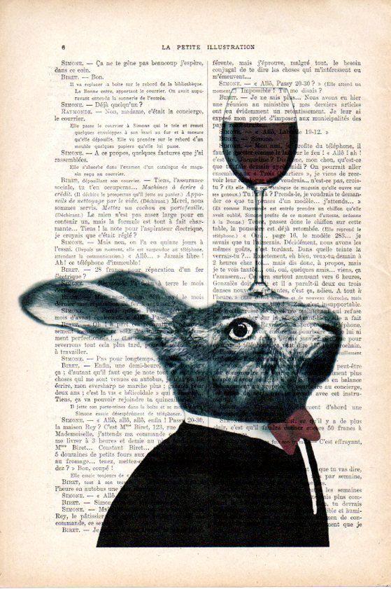 Konijn met wijnglas De echte antieke papier, die ik gebruik komt uit de jaren 1900 originele antieke Franse boekenpagina. De pagina is ongeveer 7,5 x 11.4(19 x 29 cm). Elke creatie is uniek, ontvangt u de vergelijkbare afbeelding maar op een andere pagina van het antieke papier met inbegrip van de tekenen van de schoonheid door de tijd (vlekken, hoek bochten, ongelijke prenten, enz.). Uw art print zal worden verpakt in een doorzichtige plastic folie met een kartonnen invoegen om de print…
