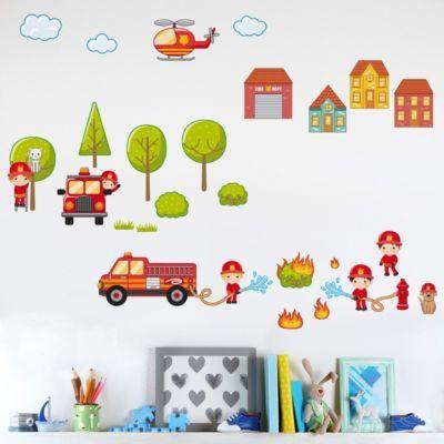 Best Wandtattoo Kinderzimmer Gro es Feuerwehr Set x Jetzt bestellen unter