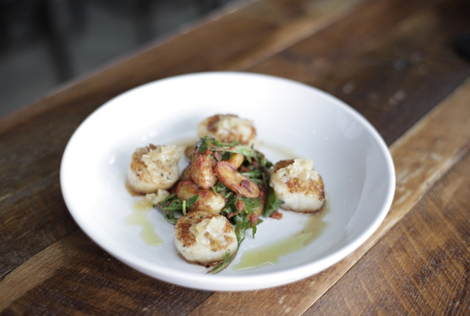 scalops: Maine Course, Side Dishes, Maine Dishes