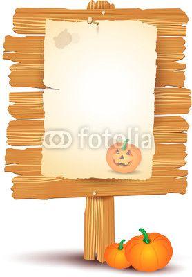 Halloween signboard