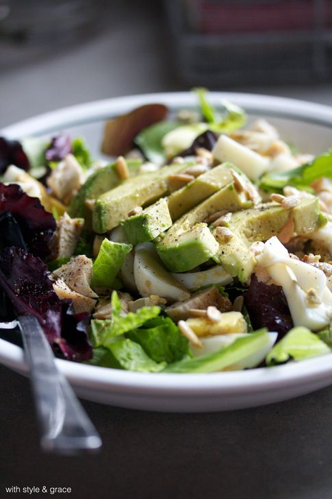 Power Protein Salad // www.withstyleandgraceblog.com