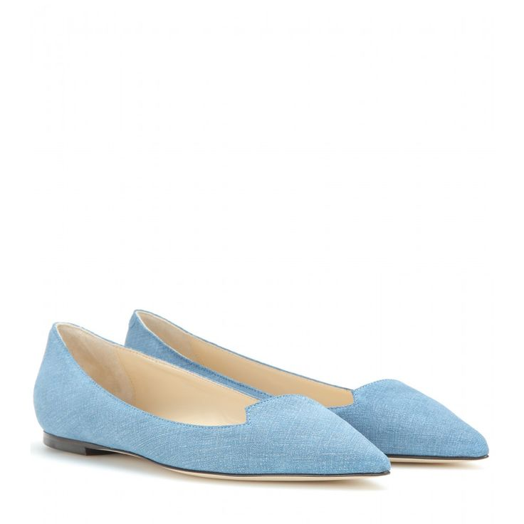 Jimmy Choo - Attila ballerinas - Jimmy Choo's coveted flat, the 'Attila' style, is updated in this cool, crosshatched blue fabric. It's the perfect foil to super-dark denim and billowy blouses. seen @ www.mytheresa.com