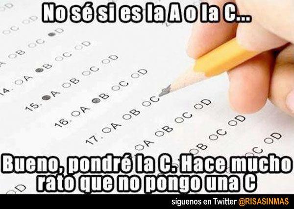 Respuesta típica en test.