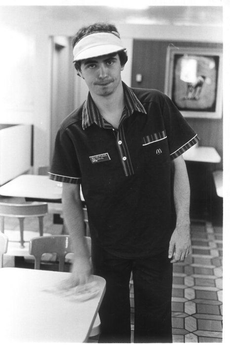 Daniel Johnston working at McDonalds