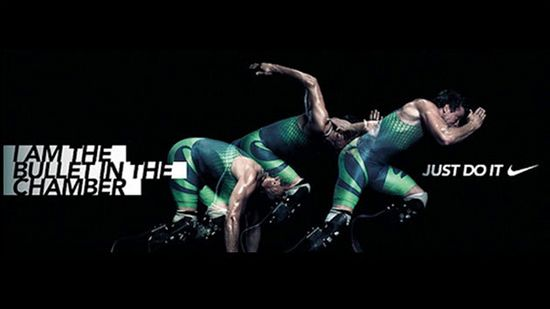 Nike web advert featuring Oscar Pistorius   Reportedly withdrawn after the South African's for murder   Brand fail   Source: http://blog.zap2it.com/pop2it/2013/02/nike-oscar-pistorius-ad-i-am-the-bullet-in-the-chamber-pulled-from-website.html