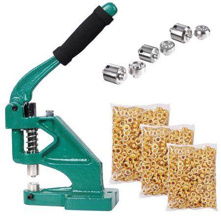 Yescom 3 Die (#0 #2 #4) Hand Press Grommet Machine and 900 Pcs Golden Grommets Eyelet Tool Kit - Walmart.com