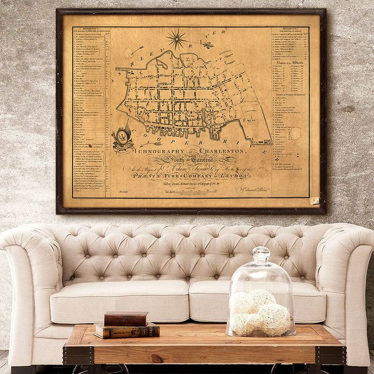 """Charleston map (1788) Old map of Charleston, SC, 4 sizes up to 48x36"""" (120x90cm) Historical street map of Charleston, also in white, or blue by RobertsMaps on Etsy https://www.etsy.com/listing/249258845/charleston-map-1788-old-map-of"""