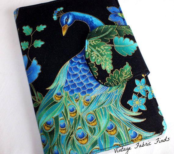 Peacock eReader Cover Kindle Nook Cover Kobo by VintageFabricFinds, $36.00