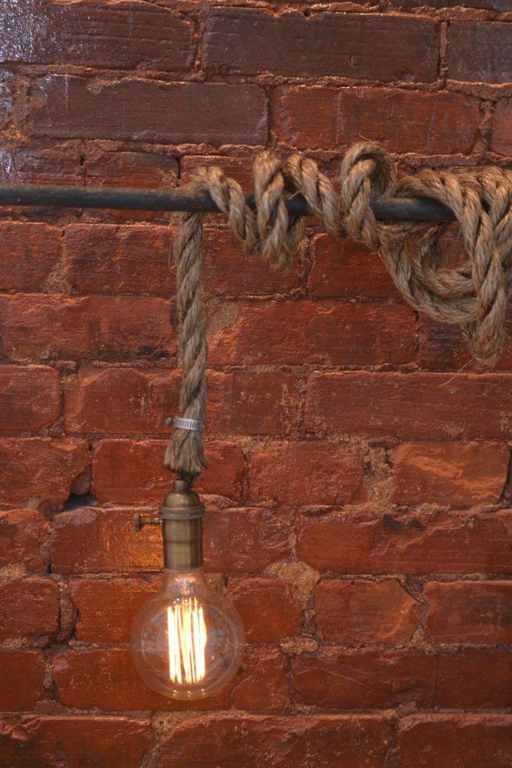 Lampara Vintage Industrial Cuerda Marina Edison Torcido - $ 998.00 en…