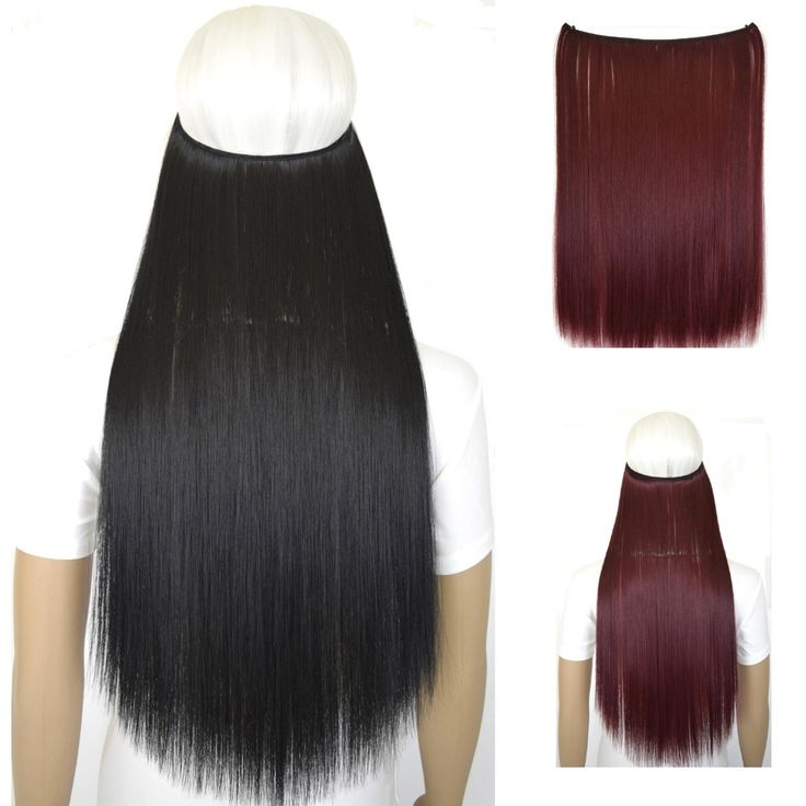 """50g 20""""(50cm) straiht mircale wire halo hair extension heat resistant synthetic hair"""
