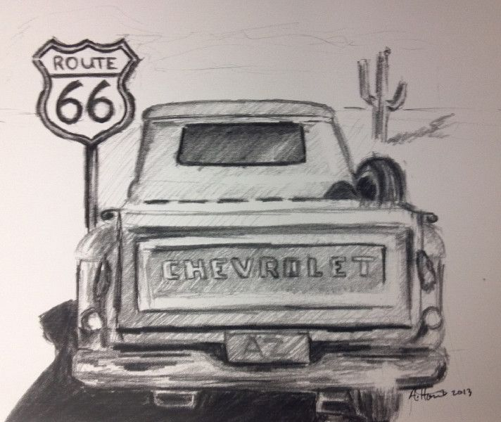 pencil drawings of old trucks - Google Search