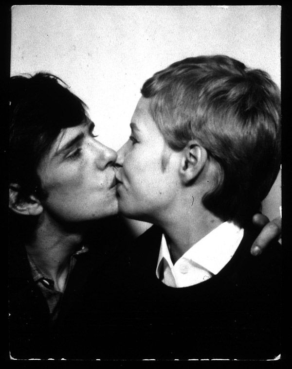 +the kiss+  In the late 1950s and early 1960s Kirchherr and her art school friends were involved in the European existentialist movement whose followers were nicknamed Exis by John Lennon.