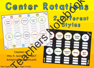 Center or Station Rotation Charts for SMARTBOARD - Smart Notebook ...