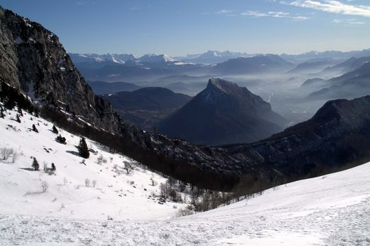 Col des Bannettes. The pass of Bannettes stands at 1,690 meters in the Massif de la Chartreuse in Isere.