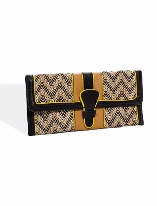Straw-Weave Tab Clutch from THELIMITED.com