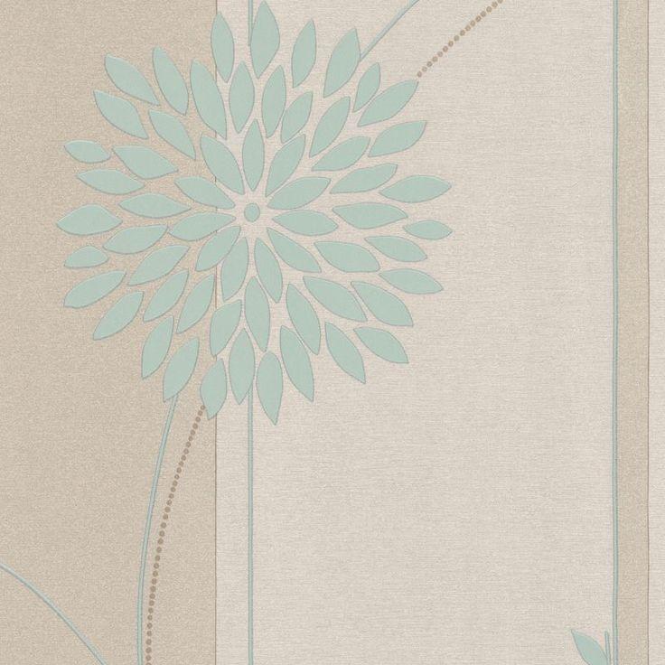 A.S. Creation Paste The Wall Tea Garden Duck Egg Wallpaper
