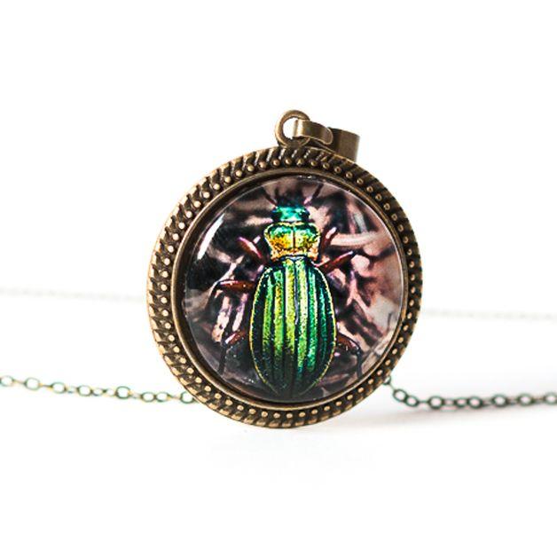 Naszyjnik z żuczkiem / Beetle necklace - Art-Of-Nature