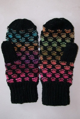 Newfoundland Mitts, knitted quite a few of these. They are easy to knit and very warm.