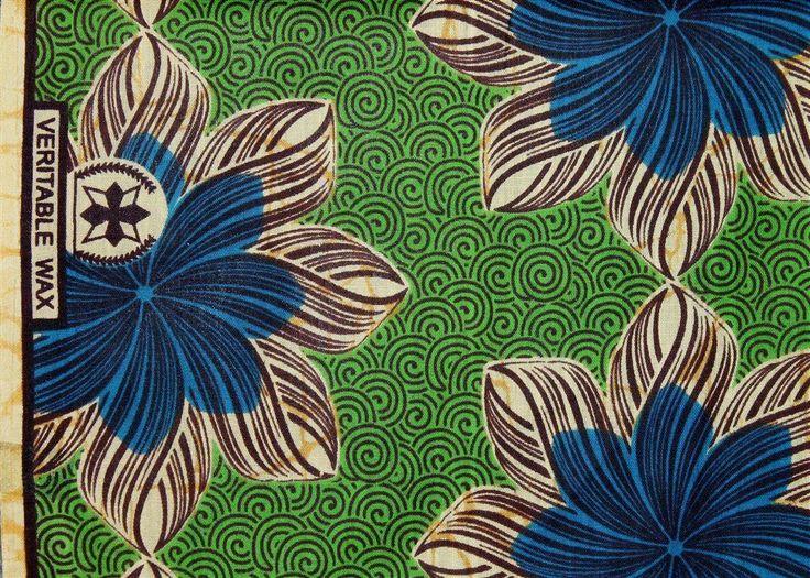 Afrikanskt tyg - African WAX Print i härliga färger - 5,47 meter