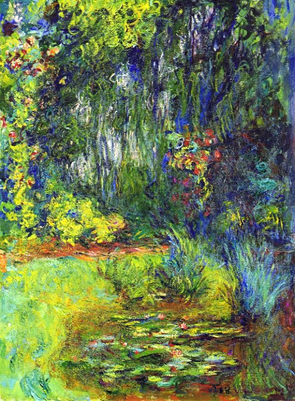 Claude Monet. Corner of the Water Lily Pond (1918-1919). via Peter.