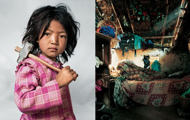 Photo Essay: When a Kid's Bedroom Isn't a Room  A striking look at where children from nine countries sleep at night.    —By James Mollison