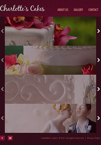 Yummy Wedding Cake Store Web Design Template