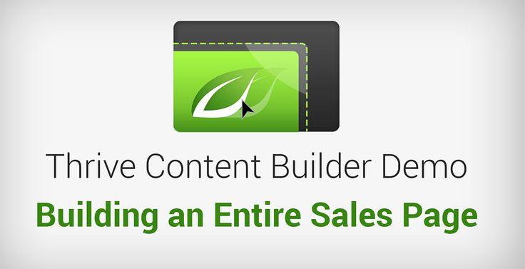 Thrive Builder Content - A maneira mais rápida de criar landing pages, páginas de vendas, postagens de blog, layouts de homepage ... - IA Produtos