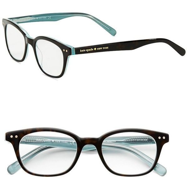 Kate Spade New York Rebec Tortoise-Print Eyeglasses ($68) ❤ liked on Polyvore featuring accessories, eyewear, eyeglasses, glasses, sunglasses, aqua black, kate spade eye glasses, clear lens glasses, tortoise shell eyeglasses and tortoise shell glasses