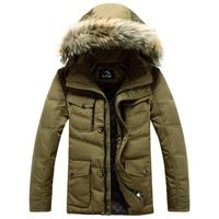 2014 new arrival men's winter jacket fur collar men's down jacket thick outdoors parka men's coat high quality 070902
