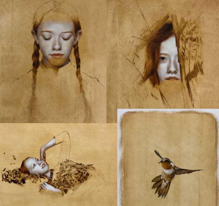 Dietro le quinte, suggestioni e interpretazione della sigla di Chiamatemi Anna. Un mix di pittura e digitale fa rivivere il mito di Anna dai capelli rossi.