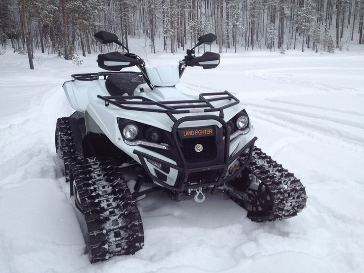 LandFighter Conquistador 6.6 equipped snowtracks. You are always ready for some fun in the snow with these bad boys.