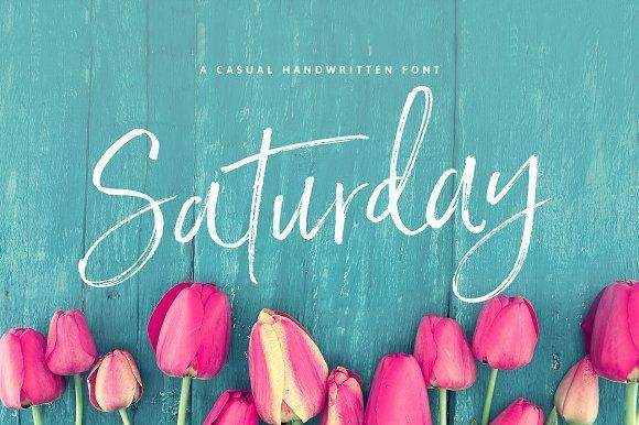 Saturday Script Brush Font by Nicky Laatz on @creativemarket