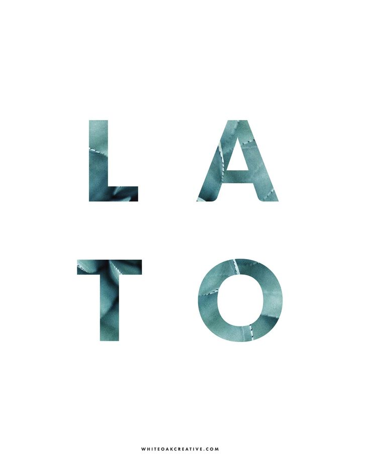 Lato is a sans-serif typeface, available in five different weights and in Roman and italic styles; this font was created by Lukasz Dziedzic.