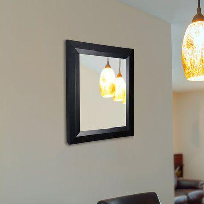 "Latitude Run Solid Angle Wall Mirror Size: 36"" H x 24"" W"