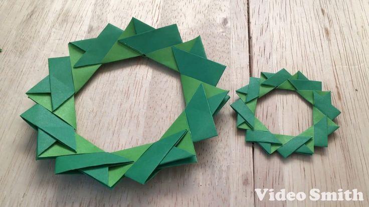 折り紙のクリスマスリースの折り方