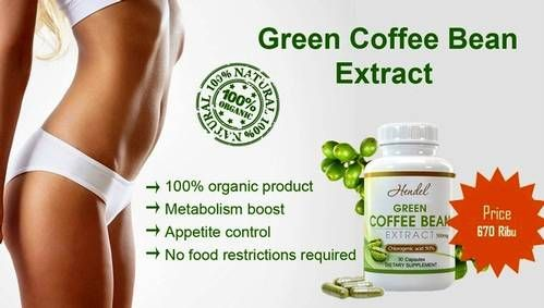 Hendel exitox green coffee bean extract 500 mg green co