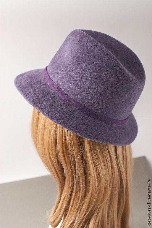 """Купить Сиреневая федора """"Татьянин день"""" - сиреневый, федора, шляпка, подарок женщине, купить шляпу"""