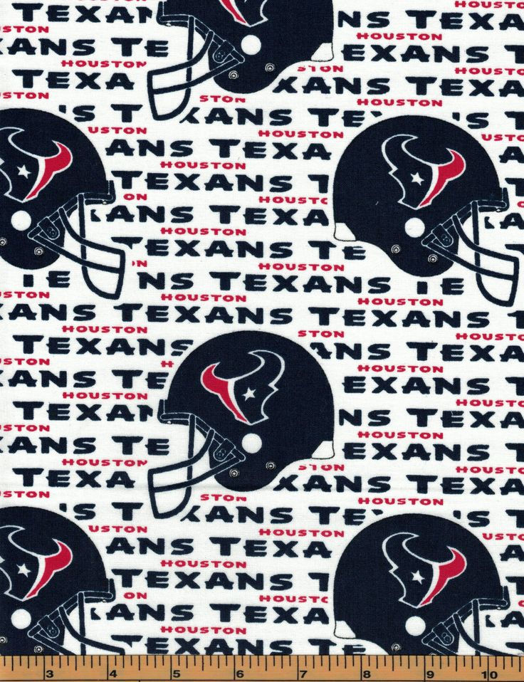 Houston Texans NFL Football Fabric100 Cotton by the