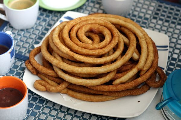 Homemade churros recipe is a Sunday favorite all over Spain. Serve with sugar and hot chocolate!