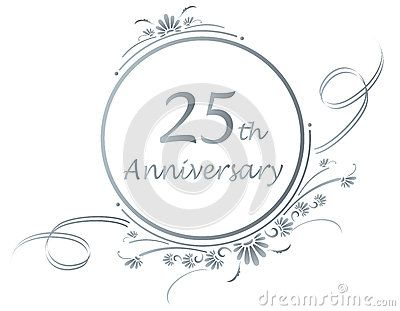 Silver Anniversary Clip Art Fl Design For A 25th Or Of Marriage
