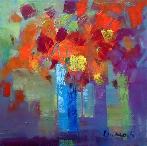 "Daily Paintworks - ""Floral conposition"" - Original Fine Art for Sale - © salvatore greco"