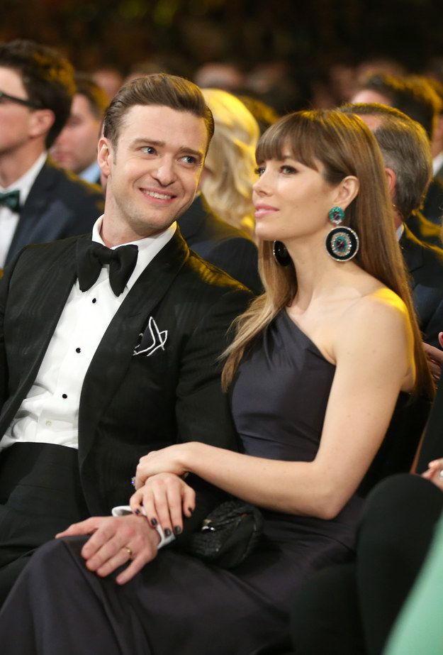 And just look at how adoringly Justin Timberlake is gazing at Jessica Biel. | 28 Celebrity Couples Who Will Restore Your Faith In Romance
