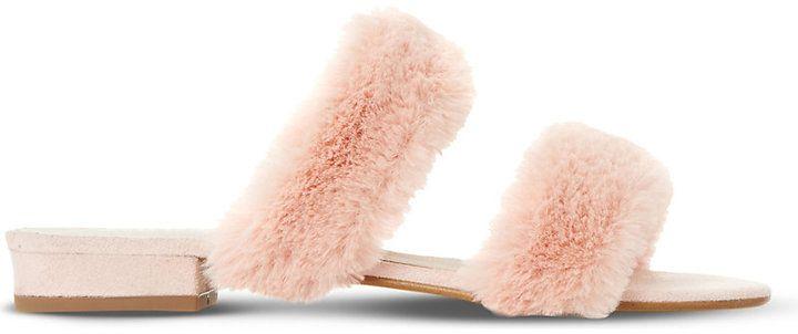 Dune Lilliana fluffy sandal