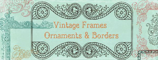 More Free Clipart – Vintage Frames Borders & Ornaments | Starsunflower Studio Blog